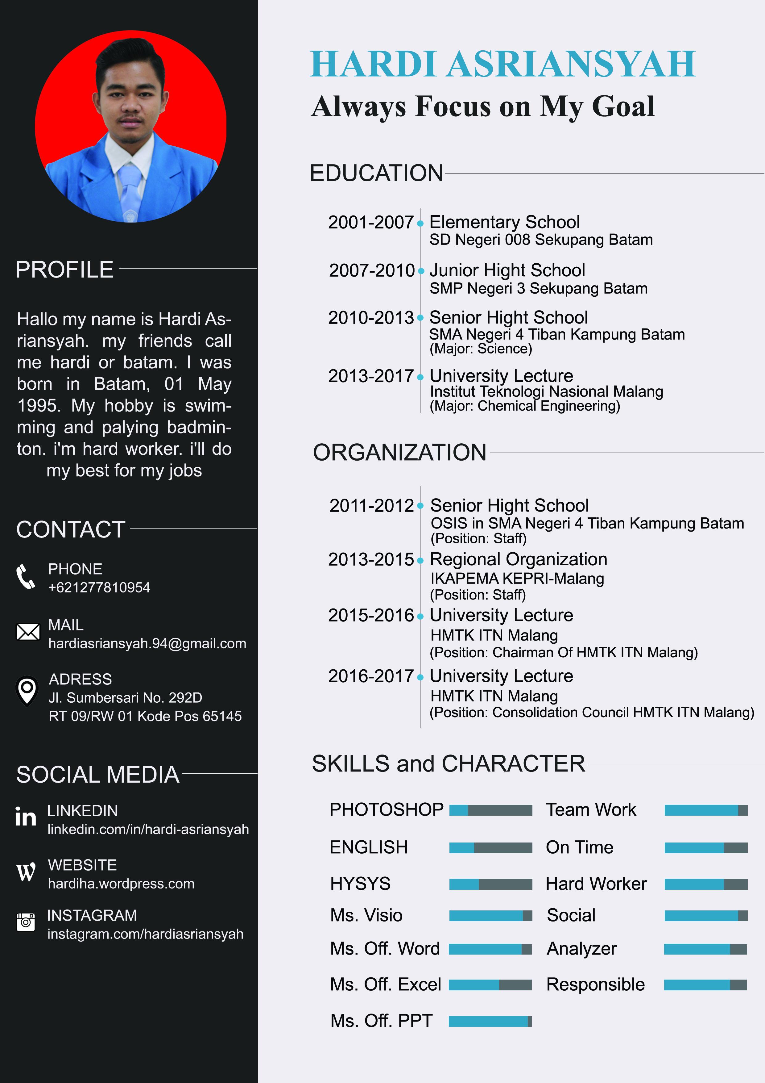 Contoh CV Menarik  Hardi Asriansyah